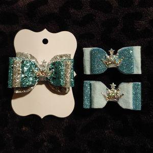 2/25 Ice princess hair bows